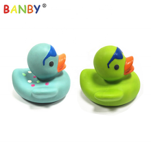 Customized Color Soft Toy Style Duck Baby Teether Bath Toy BPA Free