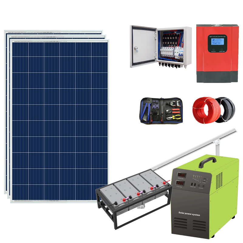 Complete <strong>1000w</strong> portable solar power system for ground installation power system