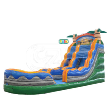 tiki plunge inflatable water slide for sale