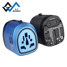 All In One Socket Charger Adapter 3 in <strong>1</strong> Universal Travel Adapter with dual USB port 5v 2.4a