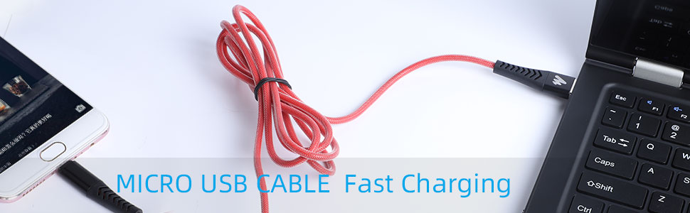 Cool data cable style fast charge durable Micro-USB cable for smart phone