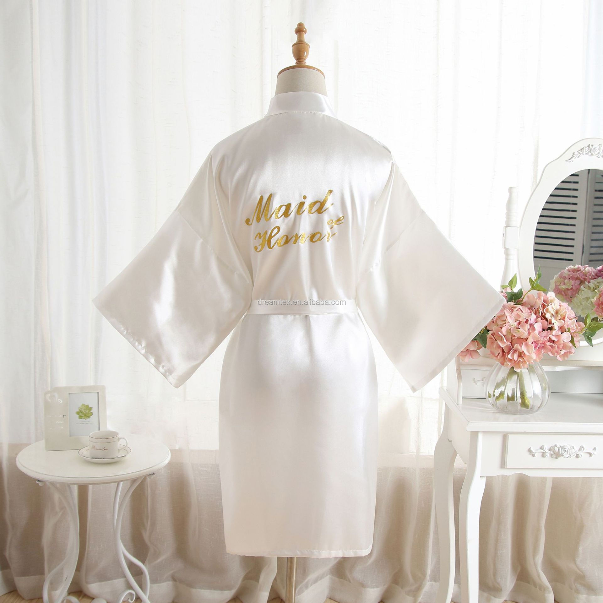 night gown Maid of honor Wholesale  artificial SILK  bride   maids morning wear robes wedding  group make up  robes