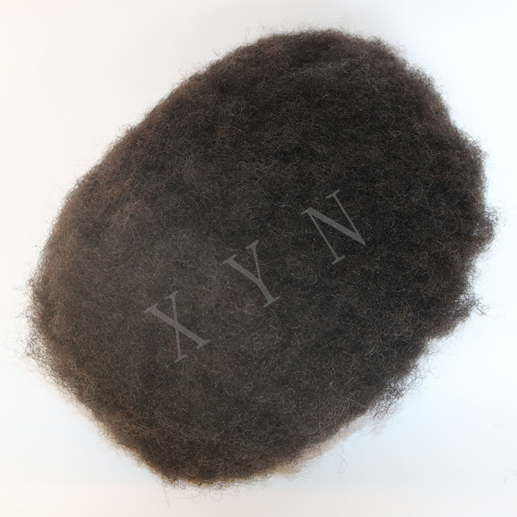 Afro Kinky Curly Human Hair Toupee 8x10 <strong>Size</strong> Swiss Lace Toupee For Men Natural Black Brazilian Virgin Hair Full Handmade Toupee