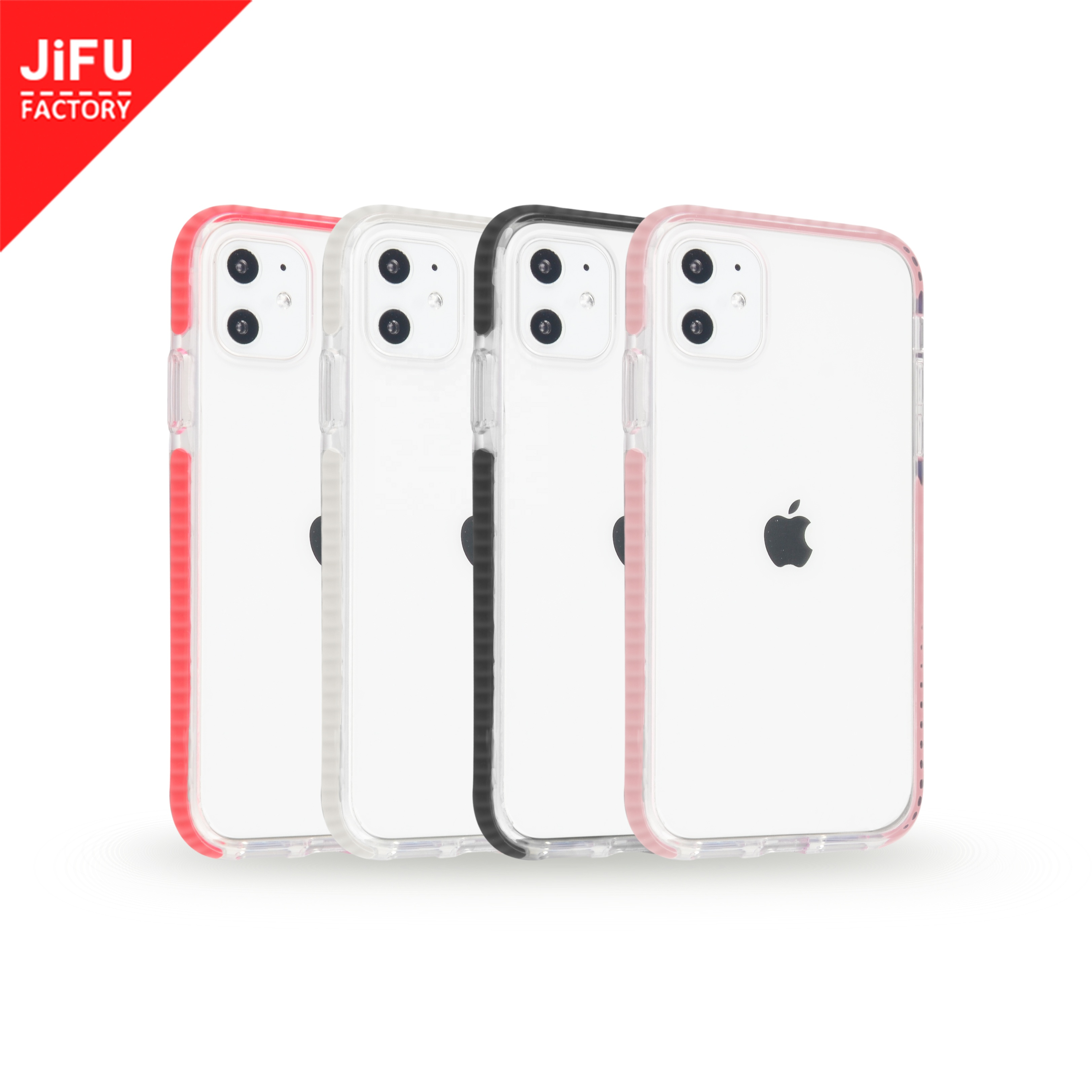Support small MOQ transparent PC back <strong>phone</strong> cover two-tone impact <strong>phone</strong> <strong>case</strong> for iPhone11/11 Pro/11 Pro Max