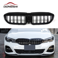 New product double slat gloss black car grills for 2019-IN bmw g20 grill