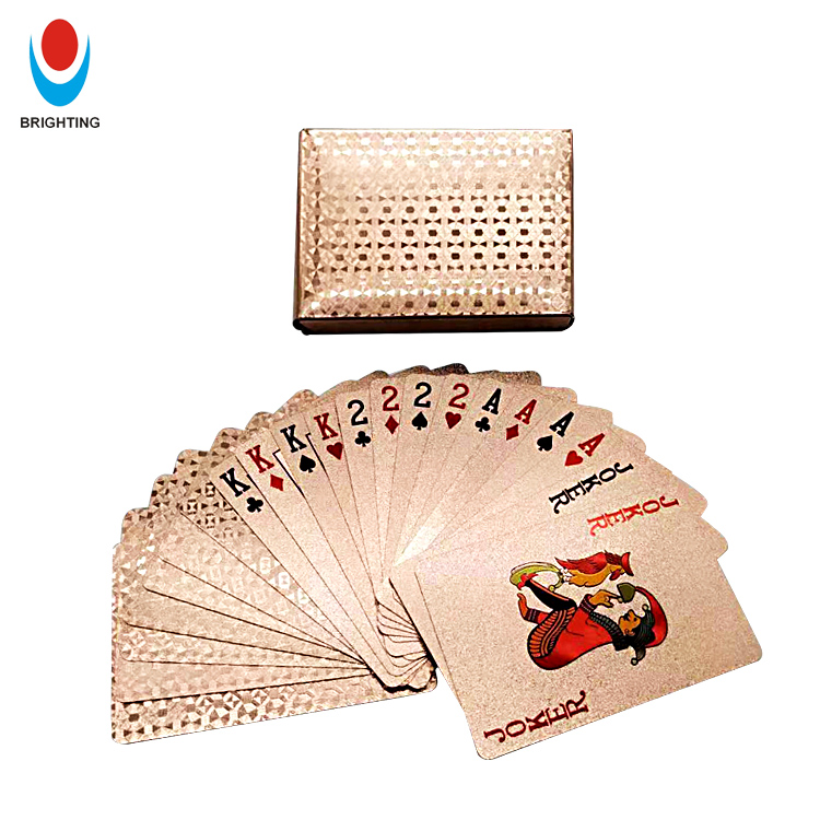 Custom Printing Gold Plated PVC Waterproof Plastic Poker Playing Card Professional Manufacturer