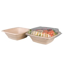 OEM Accept Square bowl with <strong>flat</strong> or dome lid 32oz Low Price