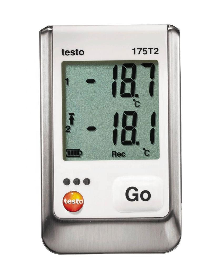 Testo 175 T2 Temperature data logger Set 0572 1752 With 0572 <strong>1001</strong> Penetration tip NTC Temperature probe