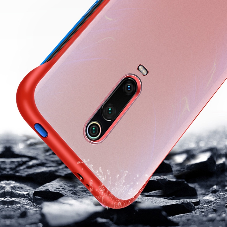 Frosted Anti-skidding TPU Protective Case with Metal Ring for Xiaomi Redmi K20 Pro