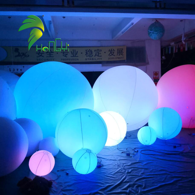Hongyi Inflatable Floating Balloon Wholesale Inflatable Balloon With Colorful Lightings For Decoration