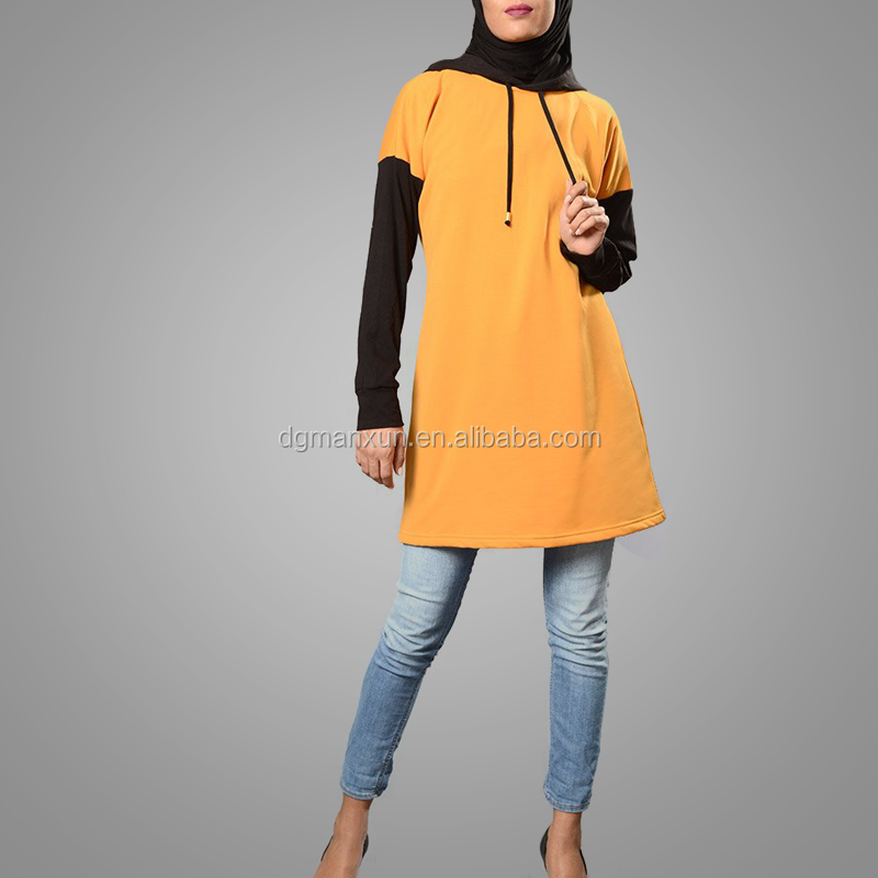 Malaysia Abaya Tunic Hot Sale Casual Muslim Ladies Tops High Quality Large Size Islamic Blouse Dubai Clothing