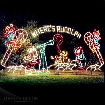 Personalised outdoor winter wonderland giant led lights american christmas decorations