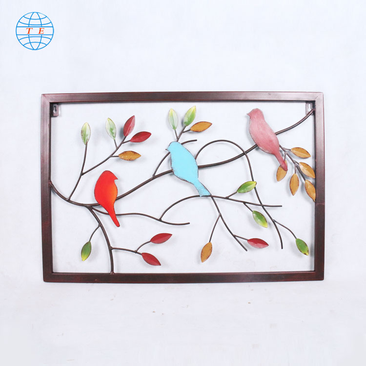Simple modern metal iron home decoration background wall wall art