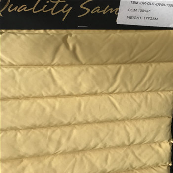 50DX50D hot sale winter heavy duty polyester down jacket double layer fabric--wave pattern
