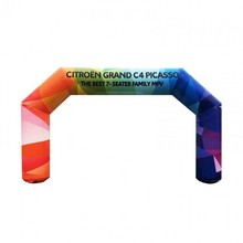 Custom Printing Rainbow  Inflatable Race Finish Line  Entrance Arch for Advertising Sports Event