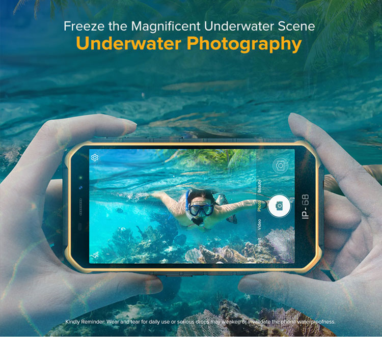 Ulefone Armor X7 Pro Android 10 Rugged Phone 4GB RAM Smartphone Waterproof IP68 NFC 4G LTE Mobile Phone