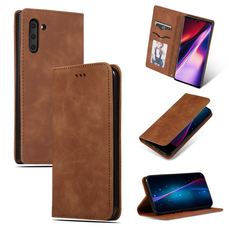 Luxury Vintage Leather Magnetic Flip Business card holder case for samsung galaxy note <strong>10</strong> note10 pro s10 s10e s10 5G