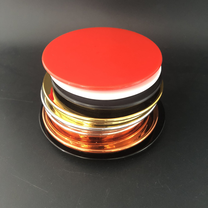 79mm Diameter plastic cap for glass candle cup, customized glass cup lid, plastic cap for candle jar
