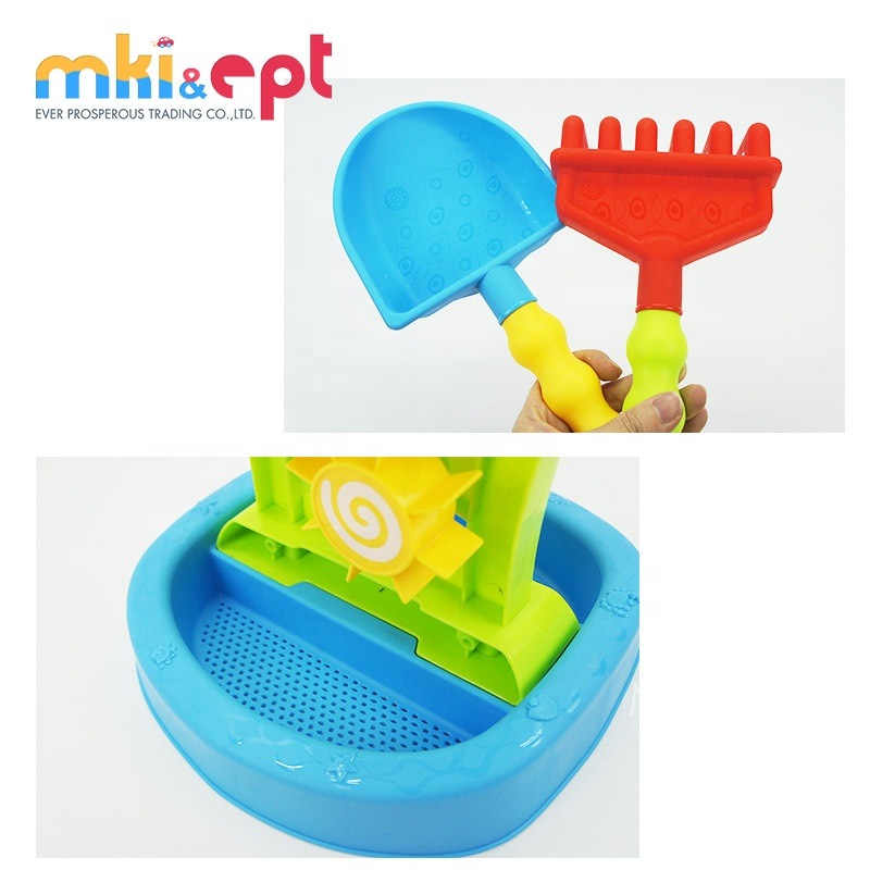 6PCS Children outdoor plastic beach mold tools sand beach toys with CE