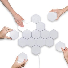 Quantum <strong>Light</strong> Led Hexagonal Lamps Modular Touch Sensitive Lighting Magnetic Hexagons Creative Decoration Wall Led Night <strong>Light</strong>