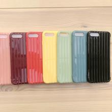 2020 Hot selling Luggage style colorful Soft TPU Mobile phone Case For VIVO V17 PRO V5 PLUS Y66 Y67 X21S With luggage stripes