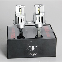Newest Waterproof Eagle Style CSP 5530 Chip H4 Car Light Bulbs 5000LM Bright 50W Motorcycle Led Headlight Bottom Heat Sink