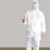 white color disposable painters overall with pocket paint coverall