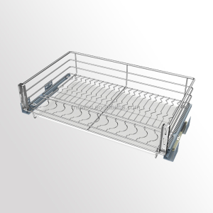 Three-side Chrome Kitchen Wire Basket