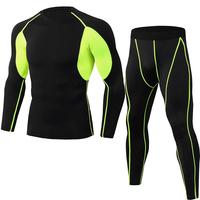 Quick Dry Anti Uv Private Label Running Compression Tights Tops Fitness Clothing Men