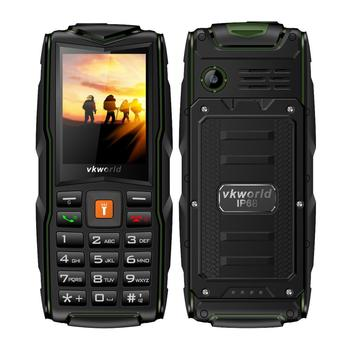 China Brand Mobile Phone Stock vkworld New Stone V3 2.4inch 64MB+64MB 3000mAh Battery Versatility Waterproof Rugged Mobiles