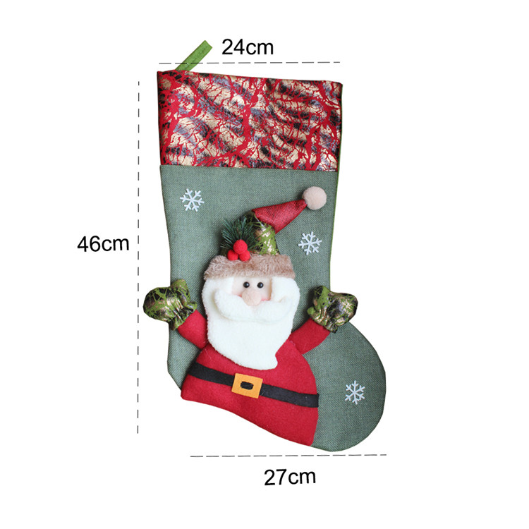 Cheap Promotional Ornament Snowman Christmas Stocking