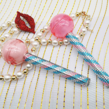 <strong>100</strong> MOQ new design lollipop lip gloss tube lip balm empty case with paste colorful jewelry