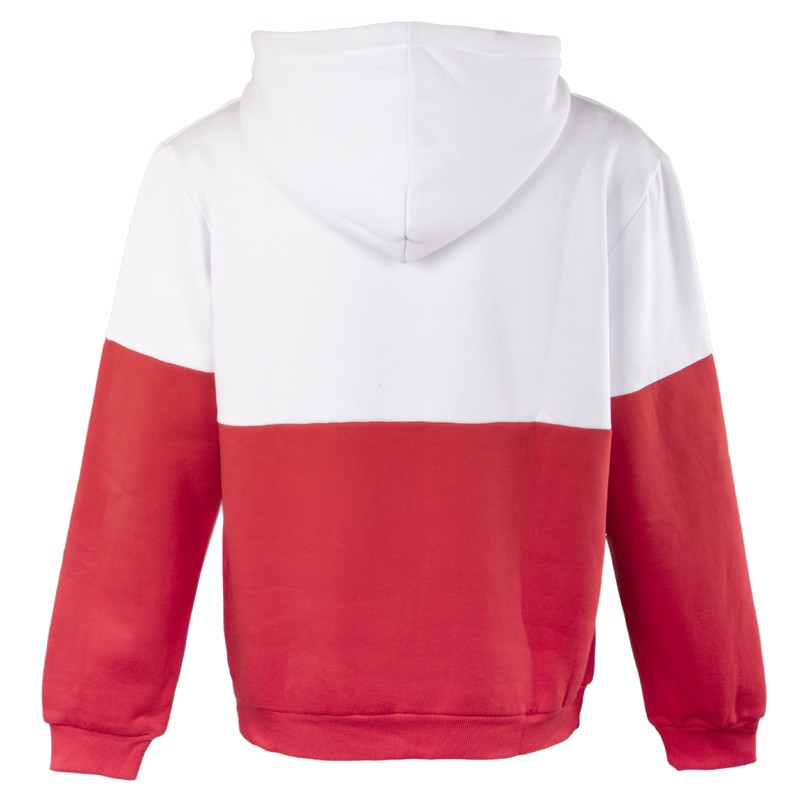 350 gsm color combination two tone embroidered hoodie without pocket