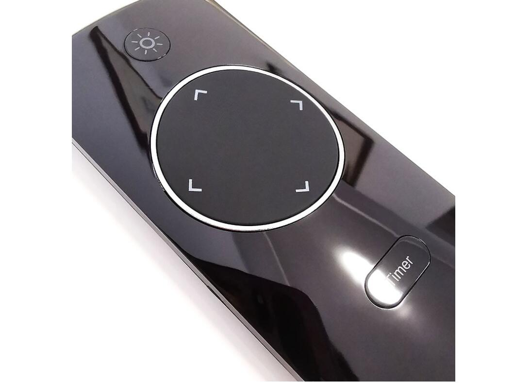 Super High Qulity Glossy Black Remote Control   IR 433 RF Black  Wireless RF Remote Control for Air Purifier Lights