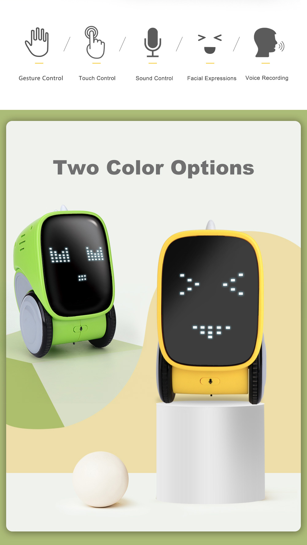 Interactive smart educational robot toysfor kids