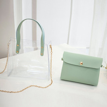 New Women's Bag Lady's Jelly Pack <strong>Chain</strong> with Single Shoulder and Oblique Span women shoulder bags