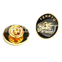 Enamel Badge, Gold Button On Badge with Custom Logo