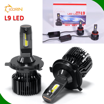 auto parts, LED/HID Super white 12V 24V COB LED head light fan h1 h3 h7 H11 H13 880 9005 9006 H4-3 8000lm led headlight bulb H4
