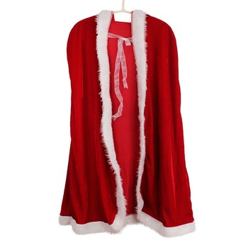 Sell Christmas cape children's cape dress up dress red adult Santa Claus cape woman