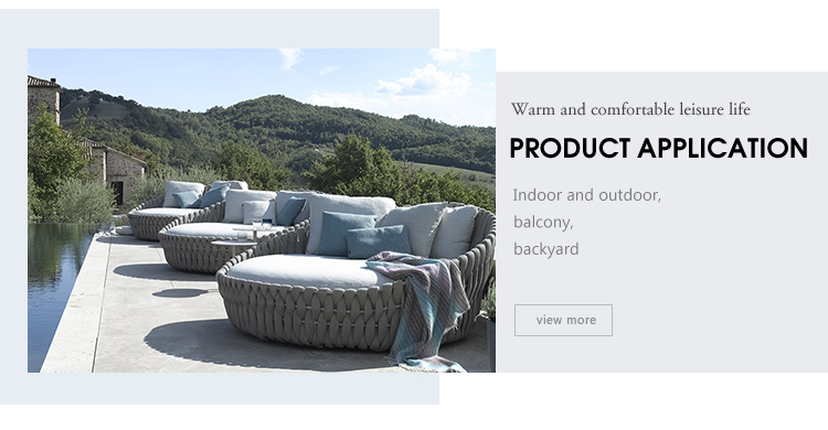 high quality modern Aluminum Frame Outdoor Garden Fancy Rattan/wicker Furniture Coffee Sofa Sets