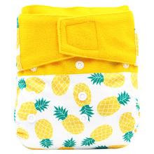 NEW Hook And Loop Fastener Baby Cloth Diapers Cover Washable One Size Pocket Nappy M90907
