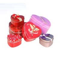 Candy Chocolate Packaging Tin box,Heart Shaped Gift Box