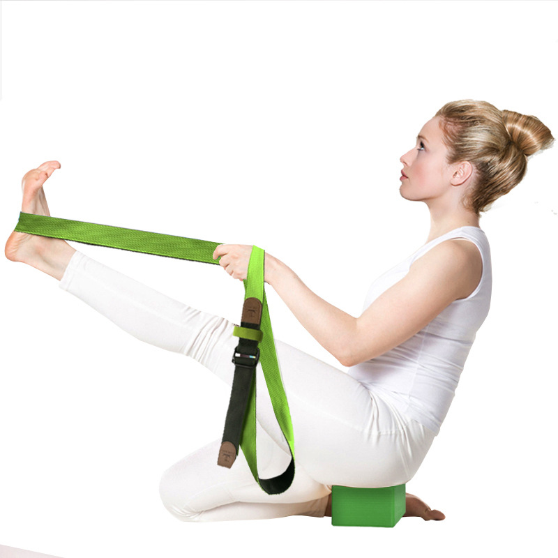 High quality cotton yoga stretch belt Yoga Stretch Strap Stretching Exercise <strong>Fitness</strong> Bands