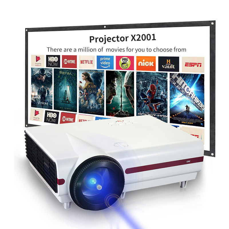 Hdmi Vga Usb 200W Powered Hd Led Projector For Business Education