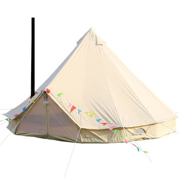 waterproof 3m 4m 5m 6m 7m bell tent with wood stove