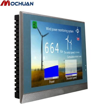 "wall mounted 15"" usb Ethernet touch screen monitor hmi controller"