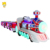 Amusement shopping mall indoor outdoor kiddie ride trackless train battery trackless train for sale