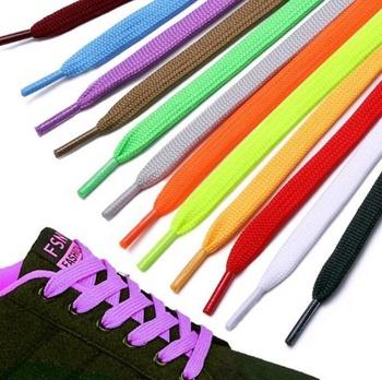 Hot selling colorful Athletic Shoe laces / Elastic Flat Shoelaces / Lazy canvas Shoelaces