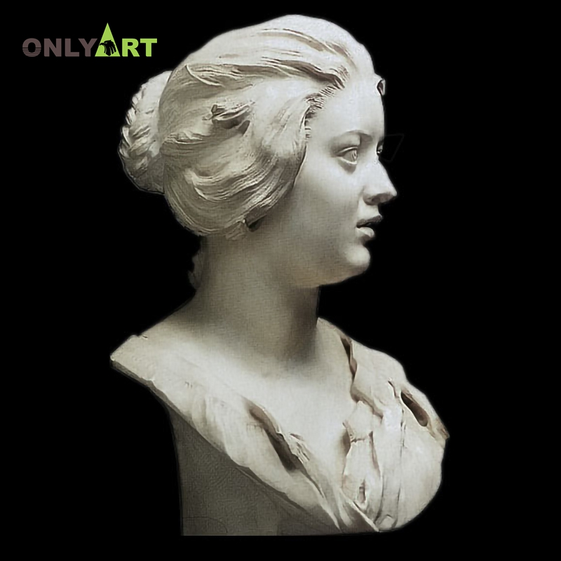 Western Sexy Lady Bust Head Sculpture