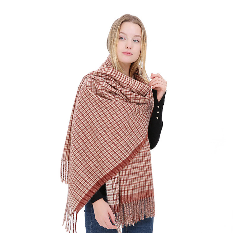 New Winter Plaid <strong>Scarf</strong> Women Fashion <strong>Scarves</strong> Shawl Warm Acrylic <strong>Scarf</strong> Sting Wool <strong>Scarf</strong>